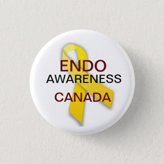 Endometriosis Awareness 1 Inch Round Button