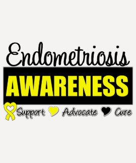 Endometriosis Awareness Badge T Shirts
