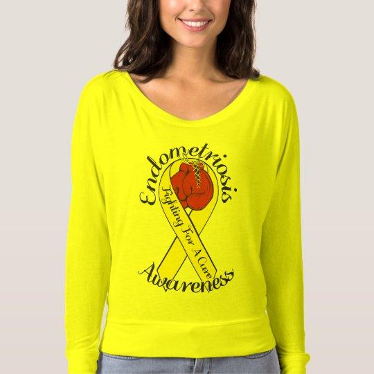ENDOMETRIOSIS AWARENESS Bella+Canvas Long Sleeves T-shirt