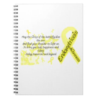 Endometriosis awareness Butterfly Quote Spiral Notebook