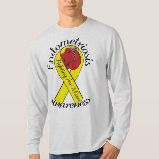 ENDOMETRIOSIS AWARENESS Hanes Long Sleeve Shirt