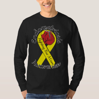 ENDOMETRIOSIS AWARENESS Hanes Long Sleeve Shirt