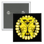 Endometriosis Butterfly Circle of Ribbons Buttons