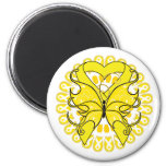 Endometriosis Butterfly Circle of Ribbons Fridge Magnets