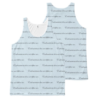 Endometriosis does not define me All-Over-Print tank top