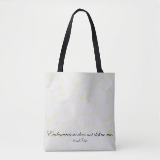 Endometriosis does not define me tote bag