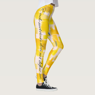 Endometriosis does not define me Yellow Watercolor Leggings