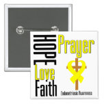 Endometriosis Hope Love Faith Prayer Cross Pinback Buttons