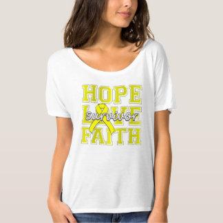 Endometriosis Hope Love Faith Survivor T-Shirt