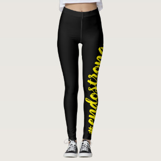 #endostrong leggings yellow text