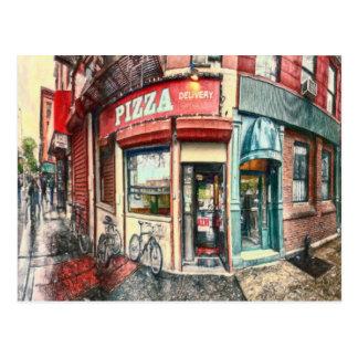 Endroit de pizza de New York City par le Mac de Cartes Postales