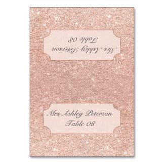 Endroit rose de mariage d'ombre de rose de carte