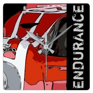 ENDURANCE RACER #23 SQUARE WALL CLOCK