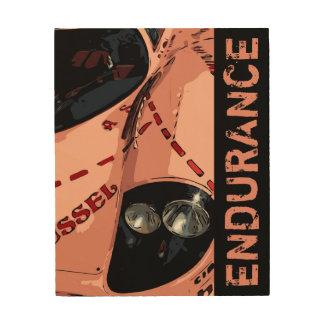 ENDURANCE RACER - PINK WOOD PRINT