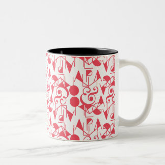 ENDURE   ALPHA AND OMEGA PRINT Two-Tone COFFEE MUG