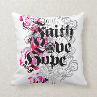 ENDURE FAITH HOPE AND LOVE THROW PILLOW
