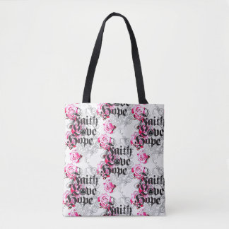 ENDURE FAITH HOPE AND LOVE TOTE BAG