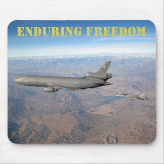 Enduring Freedom a KC-10 refuels an FA-18 Mousepad