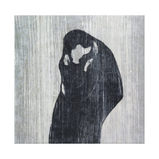 Endvard Munch The Kiss IV Canvas Print