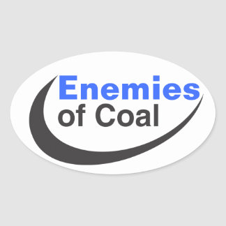 Enemies of Coal Oval Sticker