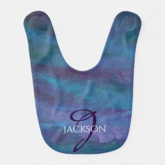 Energetic Baby | Custom Blue Purple Teal Ombre Bib