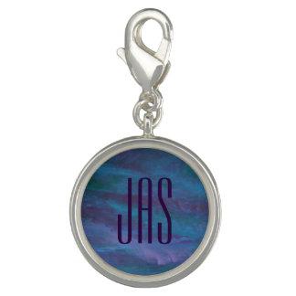 Energetic Bling | Initials Dark Blue Purple Teal Charm