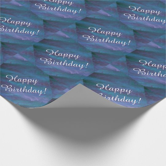 Energetic Blue Purple Teal Texas Storm Birthday Wrapping Paper