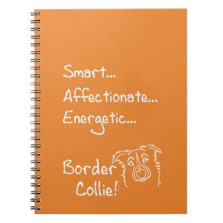 Energetic border collie notebooks