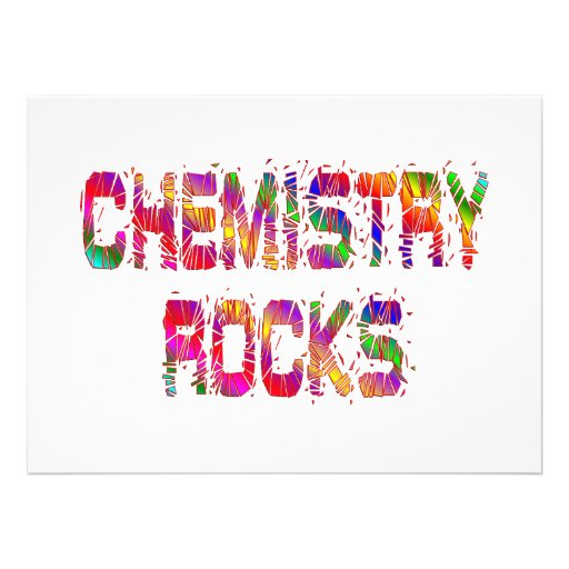 Energetic Chemistry Rocks Personalized Announcement
