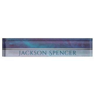 Energetic Desk | Name Blue Purple Turquoise Teal Nameplate