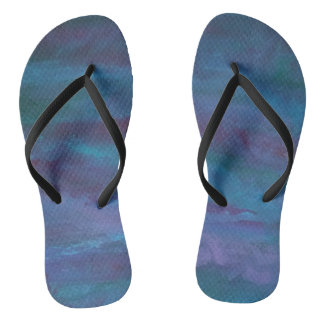Energetic Fashion   Blue Purple Turquoise Ombre Flip Flops