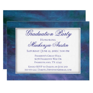 Energetic Graduation | Blue Violet Purple Teal Card