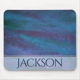 Energetic Office | Custom Ombre Blue Purple Teal | Mouse Pad