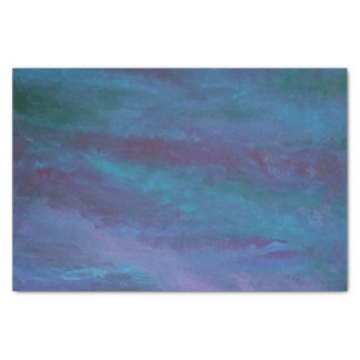 Energetic Party | Turquoise Blue Teal Purple Ombre Tissue Paper