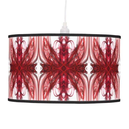 energetic red pendant lamp