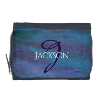 Energetic Style | Monogram Blue Purple Turquoise | Wallet