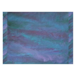 Energetic Table   Dark Blue Purple Teal Turquoise Tablecloth