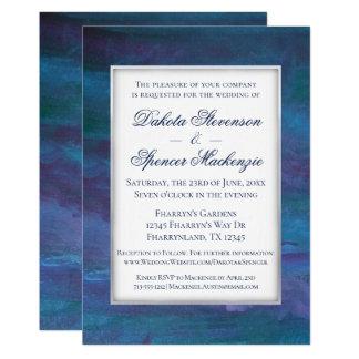 Energetic Wedding | Modern Dark Blue Purple Teal Card
