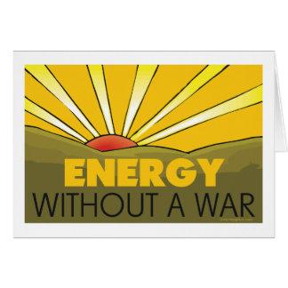 Énergie solaire, guerre carte de vœux