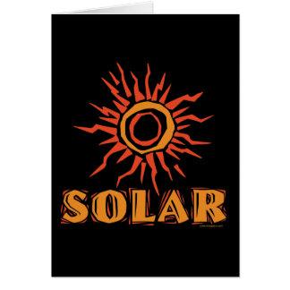 Énergie solaire Sun Carte De Vœux