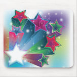 Energizing colourful stars mouse pad