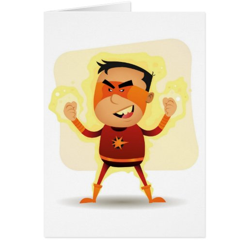 Energy Boy - Cartoon Superhero Superpower Cards