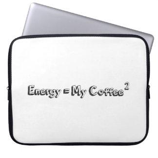 energy coffee relativity theory formula funny text laptop sleeve