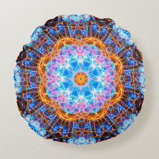 Energy Core Mandala Round Pillow