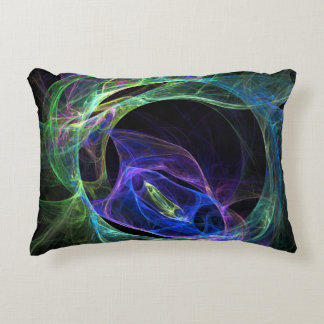 Energy Fractal Decorative Pillow