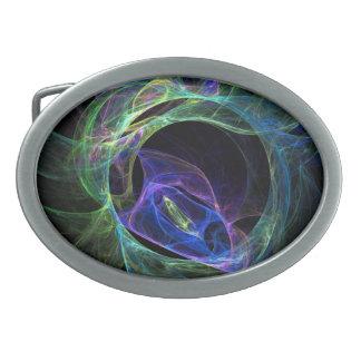 Energy Fractal Oval Belt Buckle