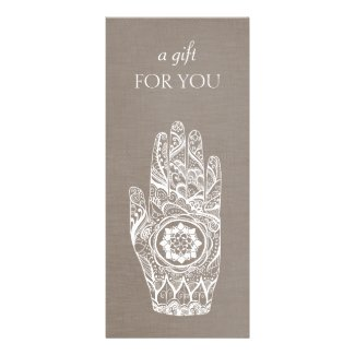 Energy Healer Henna Lotus Gift Certificate
