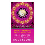 Energy Healing Holistic Pink Gold Business Card