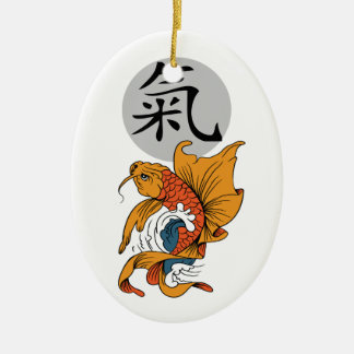 Energy Kanji Ceramic Ornament