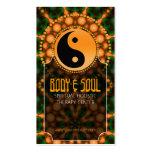 Energy Orange YinYang NewAge Yoga Business Cards